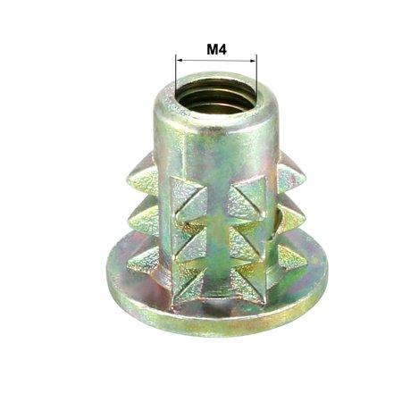 M4x10mm Wood Insert E-Nut Interface Screws Furniture Fittings Zinc Alloy 10pcs - image 2 of 4