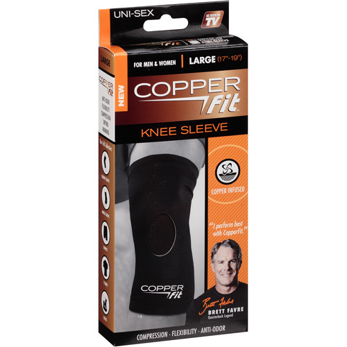 As Seen on TV Copper Fit Knee Compression Sleeve, Lrg