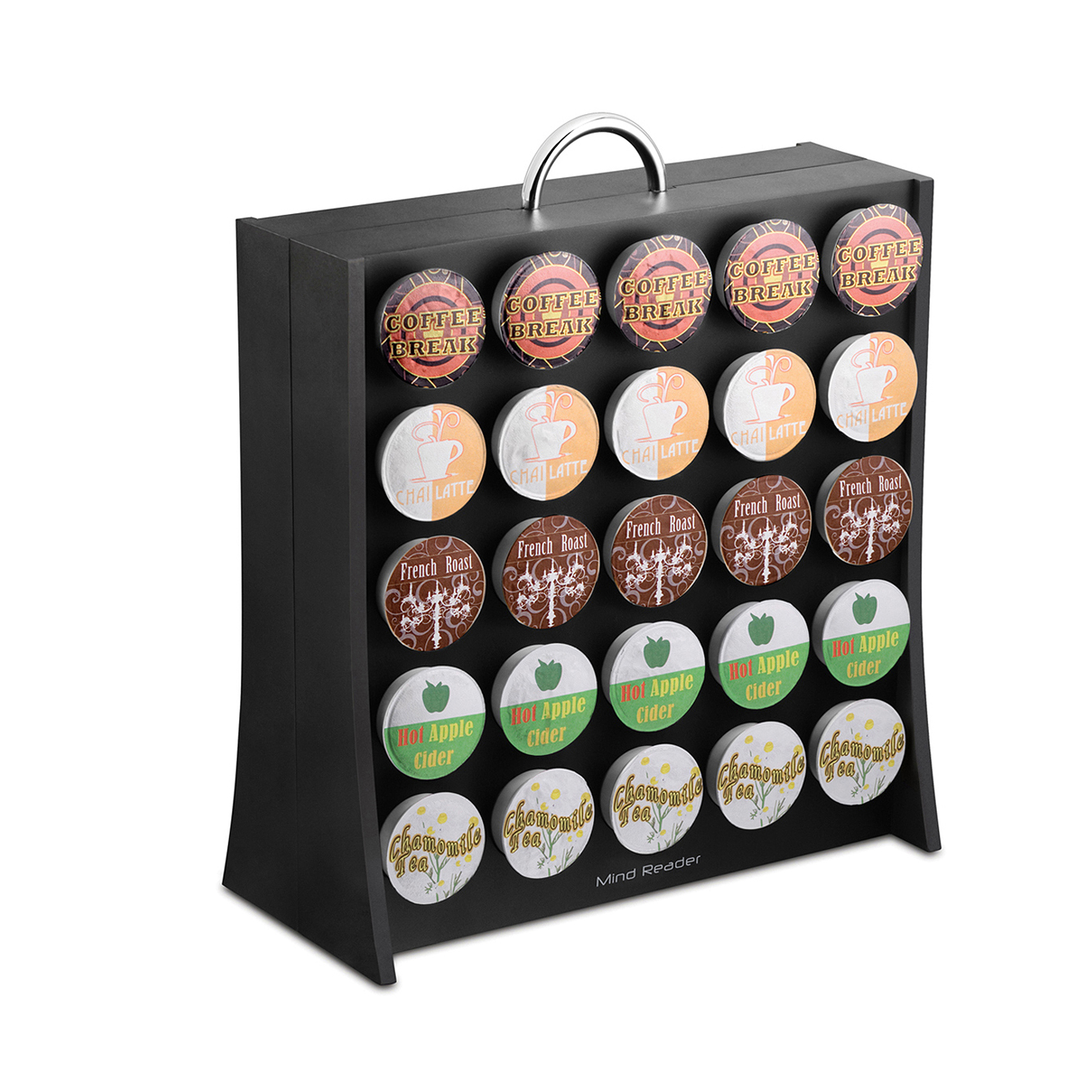 Mind Reader Coffee Pod Display Rack, 50 capacity, Black