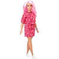 Barbie Fashionistas Doll #151 with Long Pink Hair & Red Paisley Outfit
