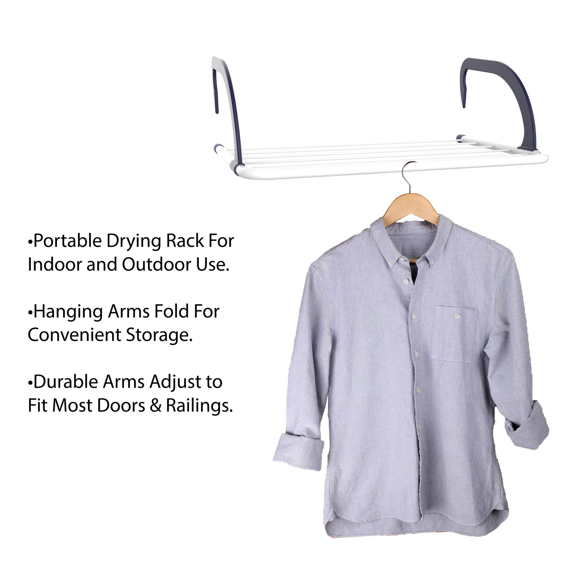 Lavish Home M050046 Indoor Outdoor Clothes Drying Rack Small