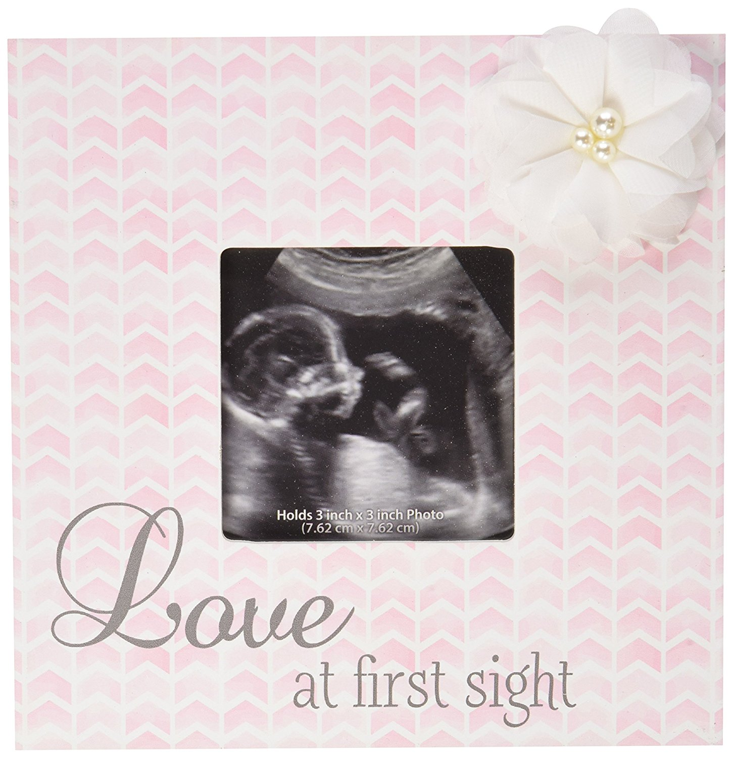 C.R. Gibson Sonogram Photo Frame, Love at First Sight, Wall or desktop frame to display baby's first photo By CR Gibson
