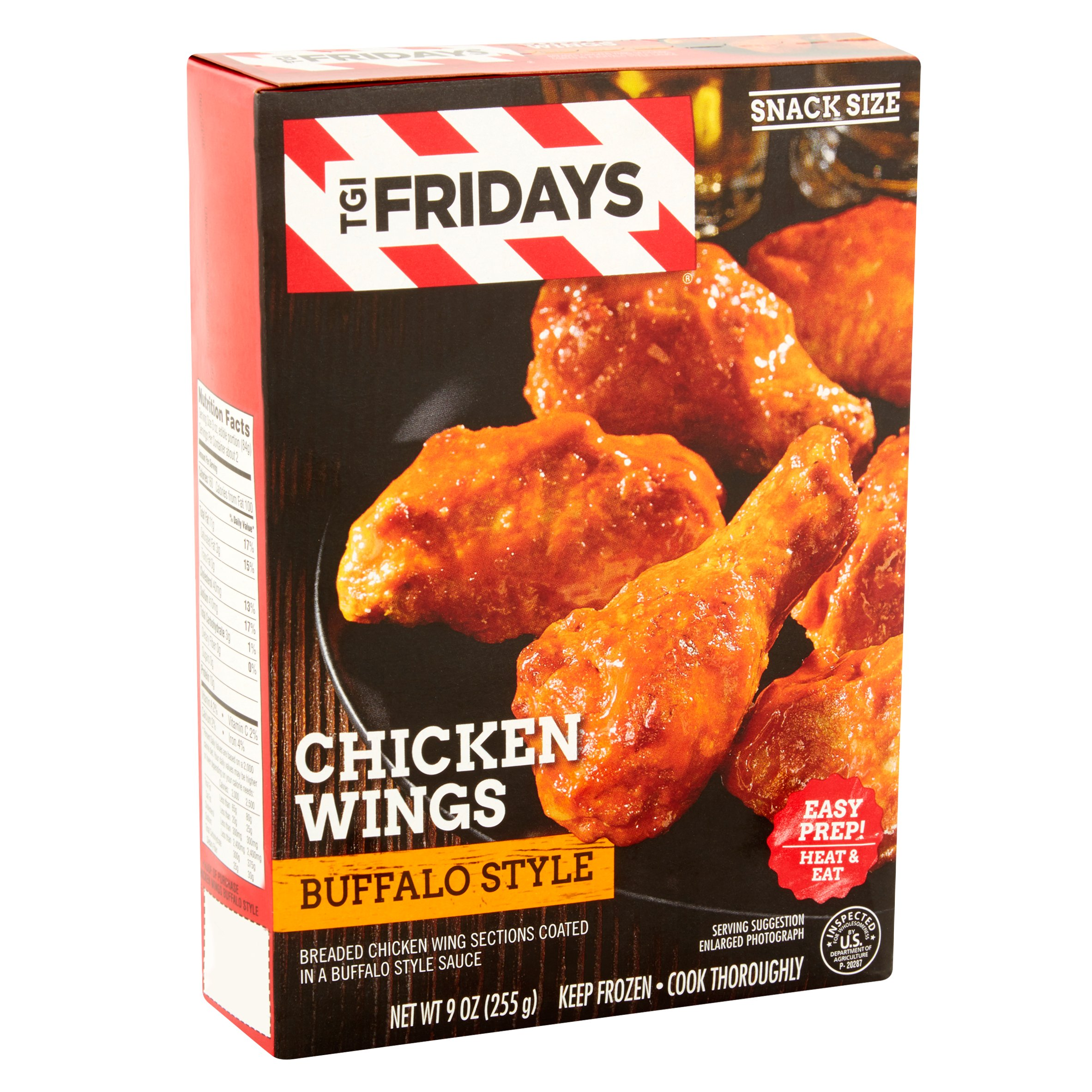 T G I Friday S Chicken Wings With Buffalo Style Sauce 9 Oz Walmart Com