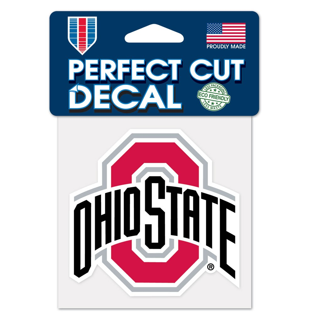Ohio State Buckeyes Official NCAA 4 inch  x 4 inch  Perfect Cut Car Decal by WinCraft