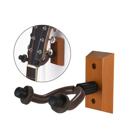 Vintage Stringed Instruments - Wooden Guitar Hanger Wall Mount String Instrument Holder Hook Keeper for Electric Acoustic Guitars Bass Ukulele