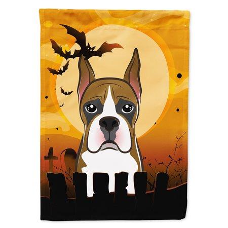 Boxer Halloween (Halloween Boxer Flag Canvas House)