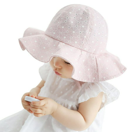 Toddler Baby Girls Outdoor Bucket Hats Kids Summer Sun Hat Beach Bonnet Cap (Beautiful Baby Bonnet)