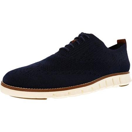 b974fa05440 Cole Haan - Cole Haan Men s Zerogrand Stitchlite Wingtip Oxford Marine Blue    Ivory Ankle-High Fabric Oxford Shoe - 10M - Walmart.com