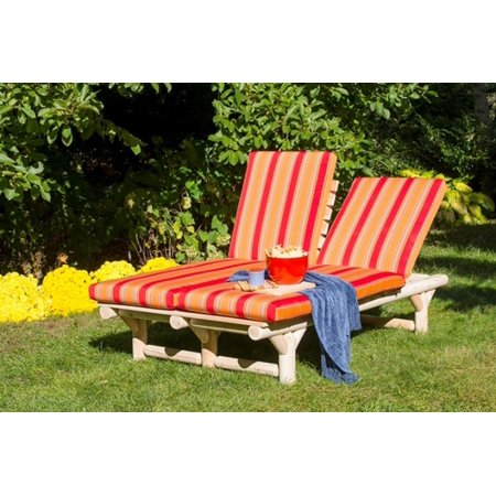 72 Quot Natural Cedar Log Style Outdoor Wooden Double Chaise