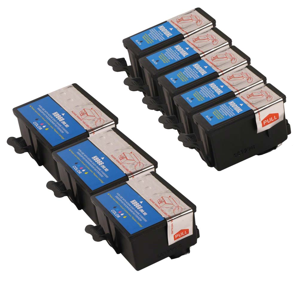 INKUTEN -  Kodak Compatible #10XL Bulk Set of 8 Ink Cartr...