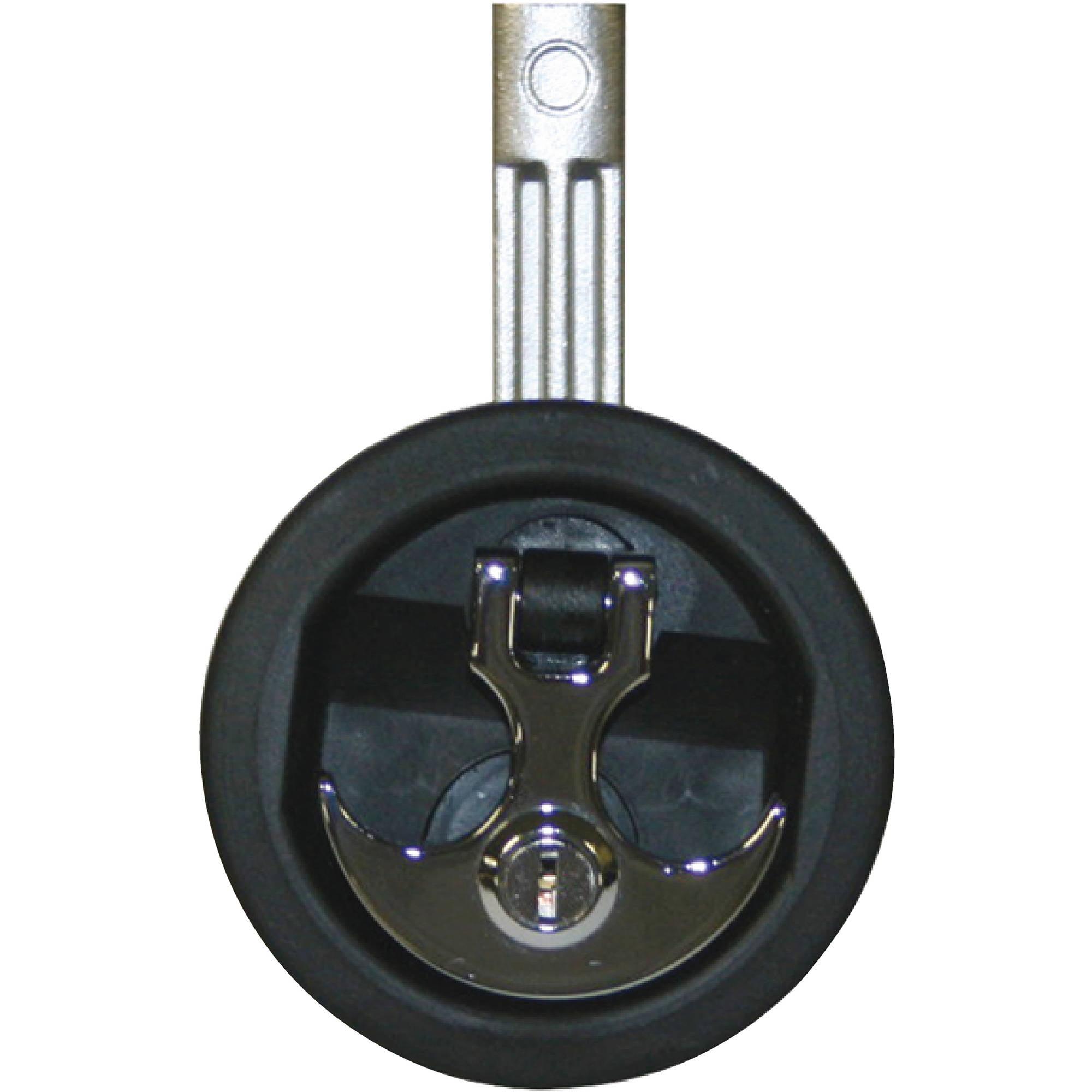 T-H Marine Locking Anchor Handle Lock, Black Body, Chrome Handle by T-H Marine Supplies