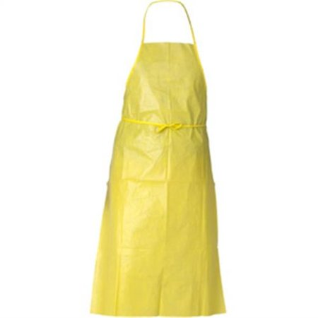 - Kimberly-Clark 97790 A70 Chemical Spray Protection Apron, Yellow - Pack of 100