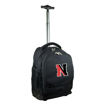Northeastern Huskies 19 Premium Wheeled Backpack - Black