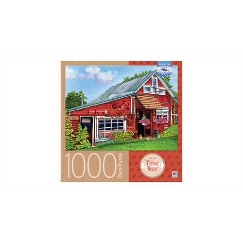 Cardinal Milton Bradley 1000pc Puzzle Thelma Winter Country Gift Shop, Eden, NY by