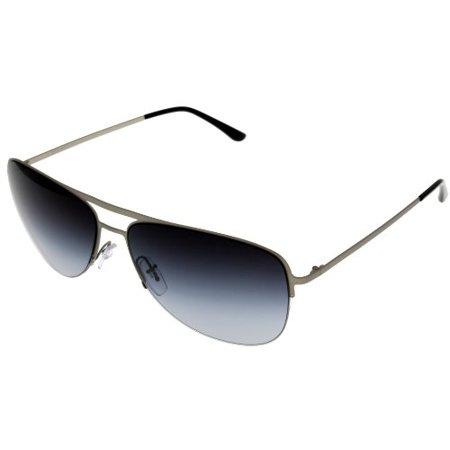 Giorgio Armani Sunglasses Unisex AR6007 30368G Semi Rimless Aviator Size: Lens/ Bridge/ Temple: 57-14-140