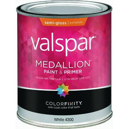 valspar medallion 100 acrylic paint primer semi gloss exterior. Black Bedroom Furniture Sets. Home Design Ideas