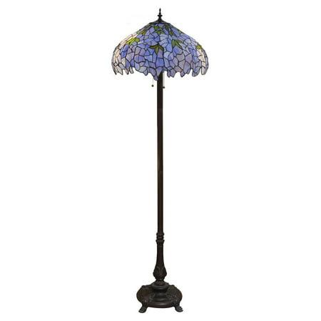 Burma 2 light purple floor lamp walmartcom for 5 light floor lamp purple