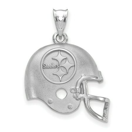 Pittsburgh Steelers Sterling Silver Football Helmet Pendant - No Size
