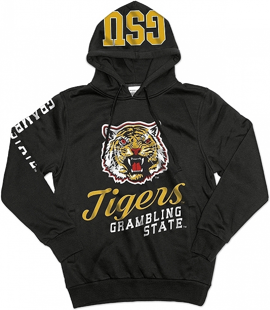 Grambling State Tigers S3 Mens Pullover Hoodie [Black L] by