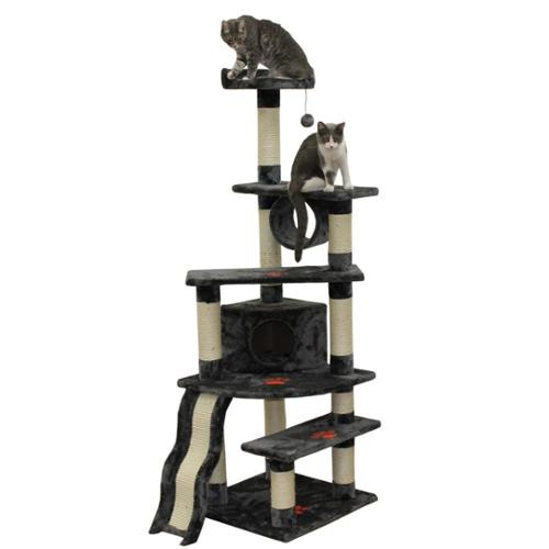 Kitty Mansions Shanghai Cat Tree Gray