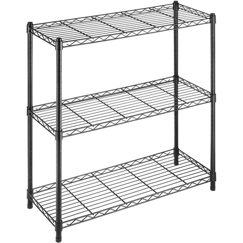 Whitmor Supreme 3-Tier Shelves, Black