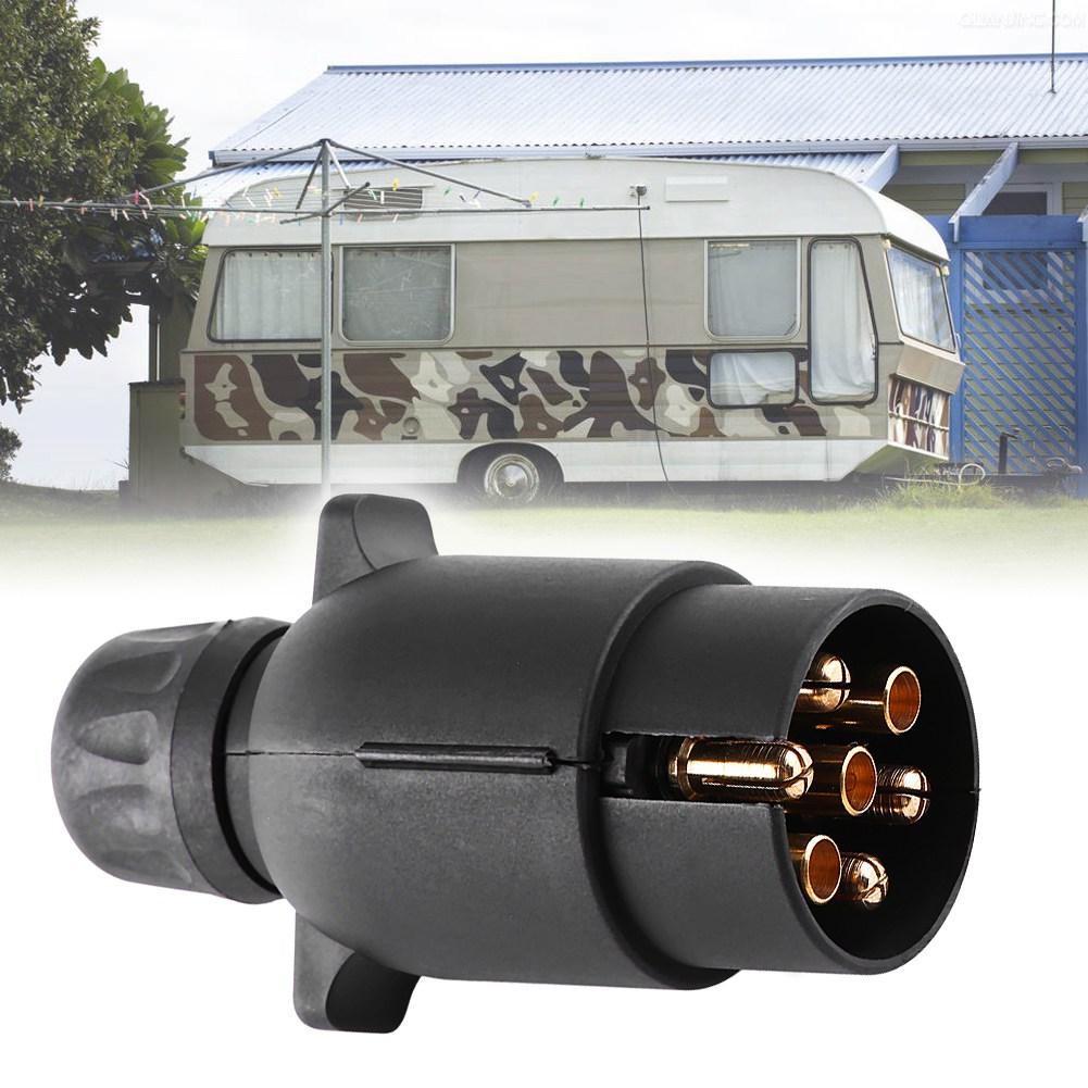 Ylshrf 7 Pin Trailer Plug  Electric Trailer Plug 12v 7 Pin