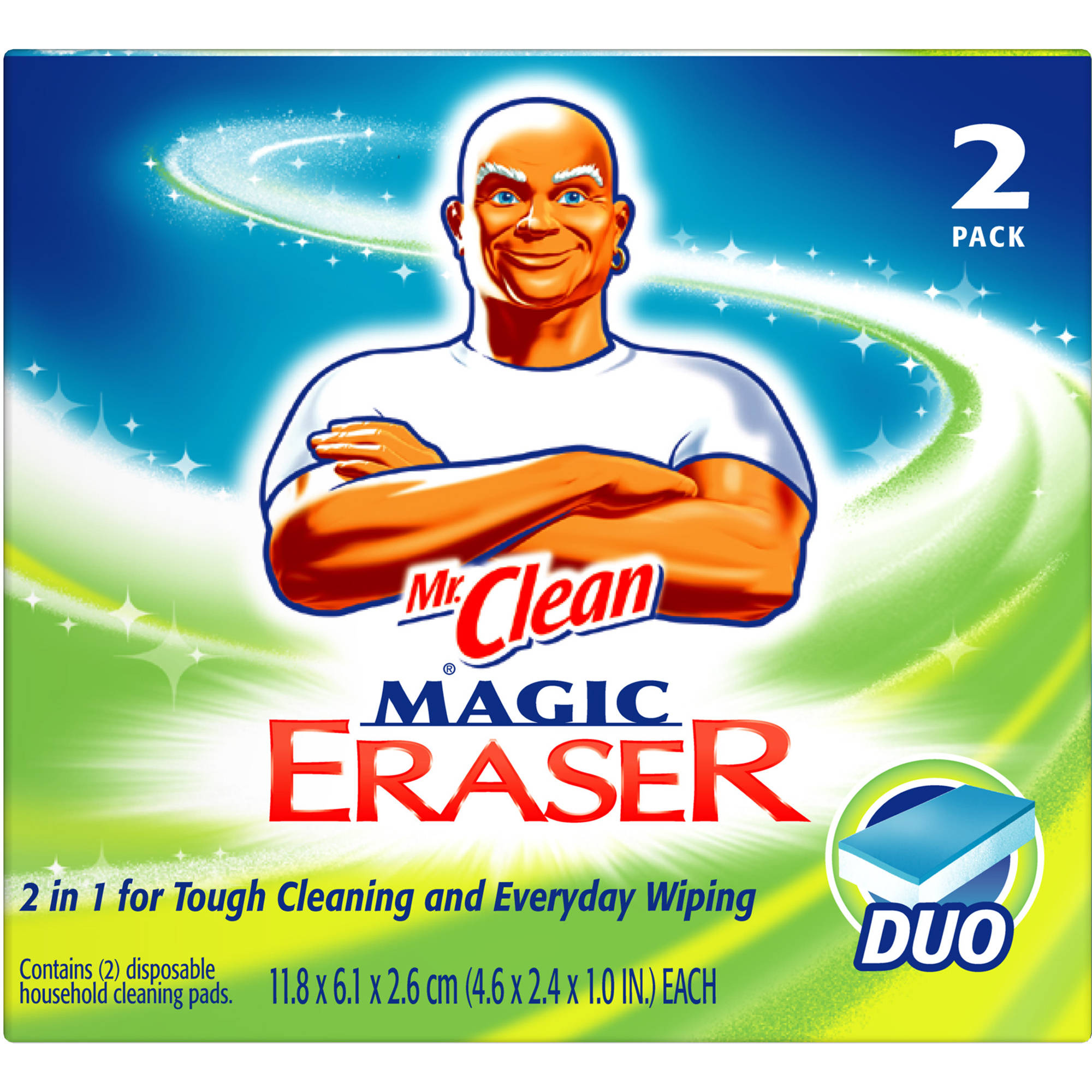 Mr. Clean Magic Eraser Duo Cleaning Pads, 2ct