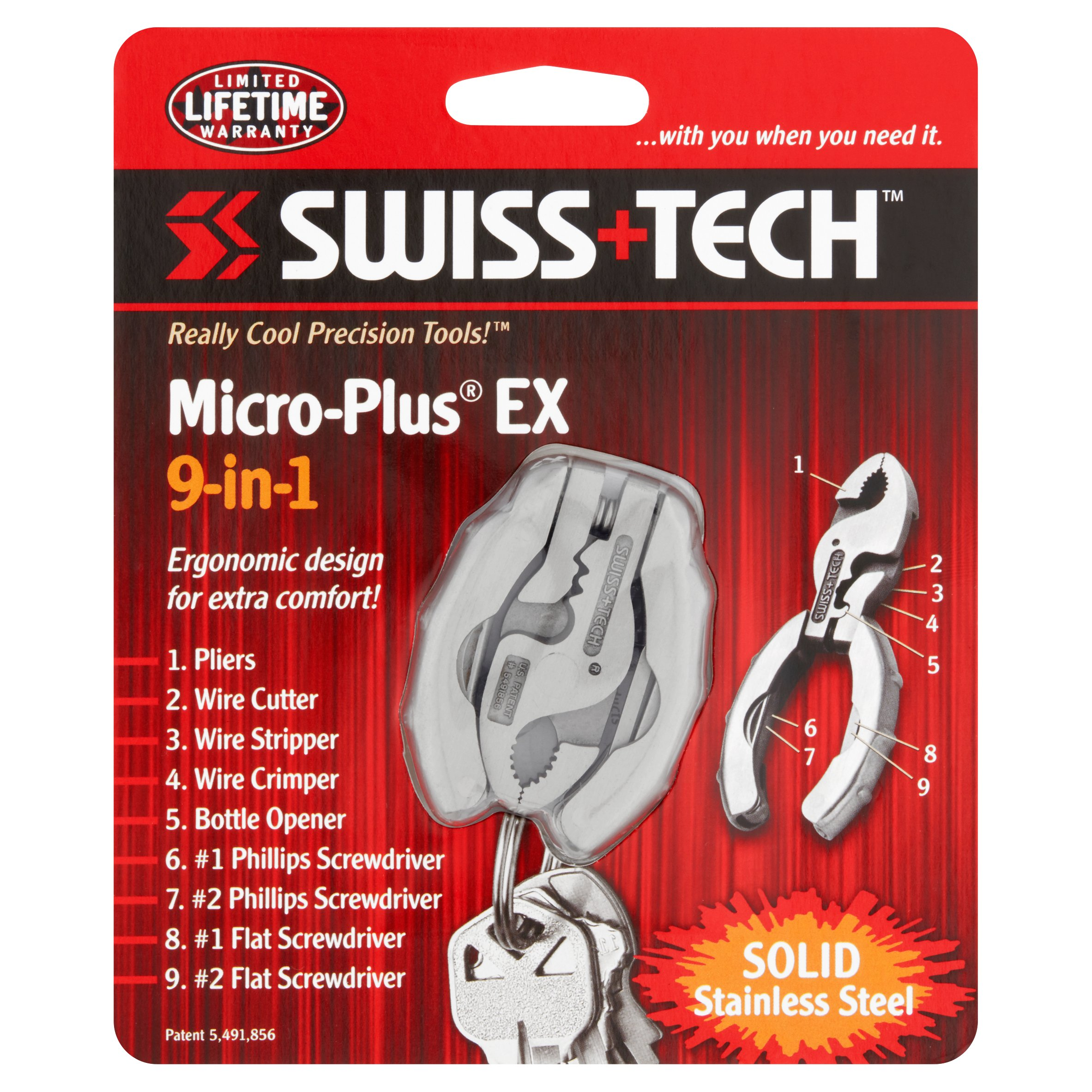 Swiss+Tech Micro-Plus EX 9-in-1 Pocket Tool Kit