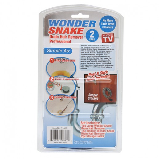 Wonder Snake Drain Hair Remover Kit as Seen on TV + FREE SHIPPING!