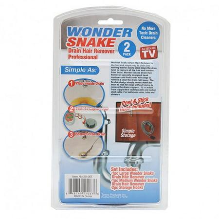 Wonder Snake Drain Hair Remover Kit as Seen on TV + FREE