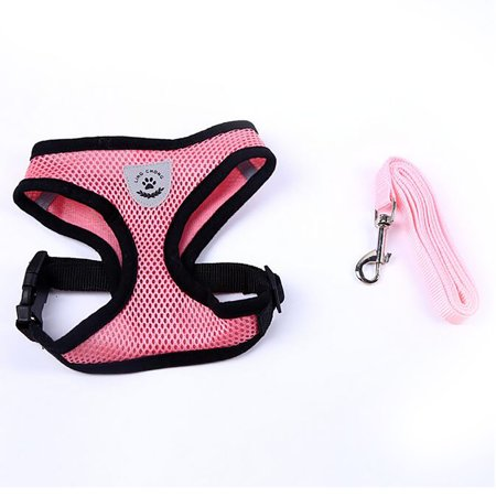 Adjustable Mesh Breathable Dog Harness Pet Vest Rope Dog Strap On Chest Strap Set For Poodle Puppy