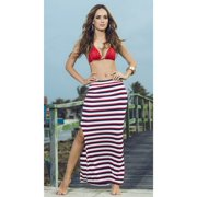 Nautical Striped Maxi Skirt