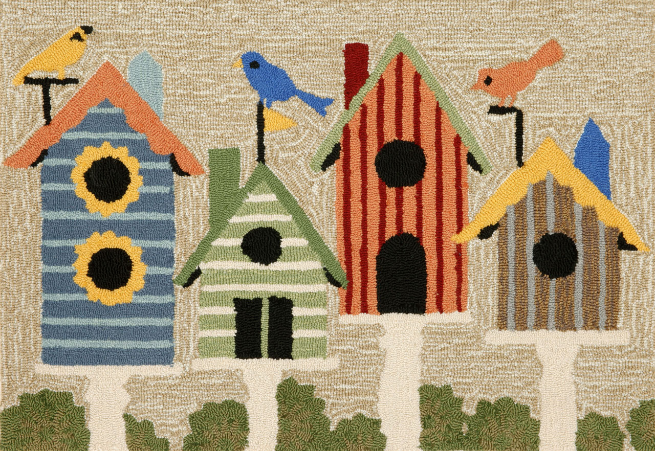 Trans-Ocean Rug Frontporch Birdhouses Doormat by Supplier Generic