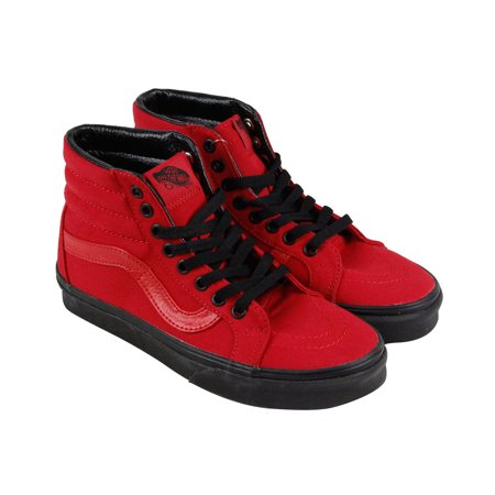 5efee9a53f Vans - Vans Sk8 Hi Reissue Mens Red Canvas Lace Up Lace Up Sneakers Shoes -  Walmart.com