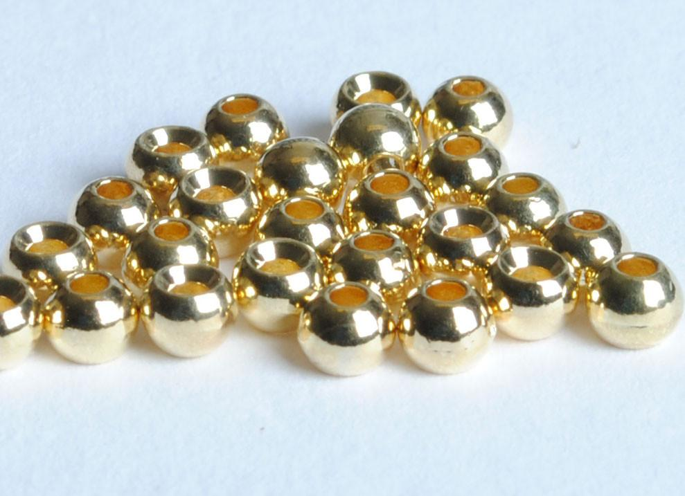 size  7//64 Fly Fishing FREE SHIPPING Fly Tying Tungsten Beads Gold  40 qty
