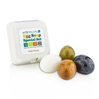 Egg Skin Soap Special Set: Charcoal Egg + White Egg + Red Clay Egg + Green Tea Egg 1.7oz