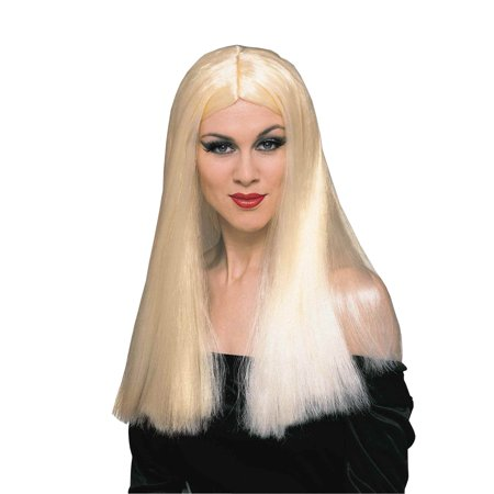 Long Blonde Adult Costume Wig - Long White Blonde Wig