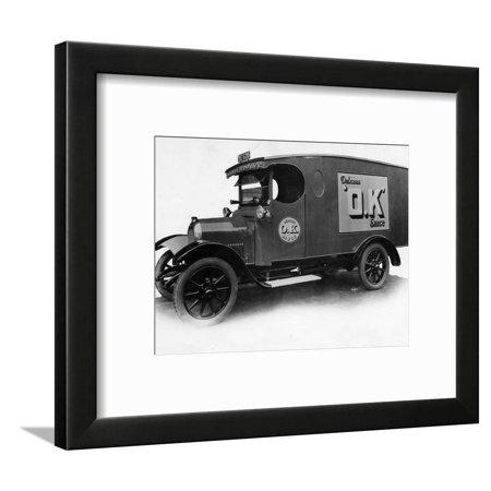 1927 Beardmore 20-25 cwt van Framed Print Wall Art
