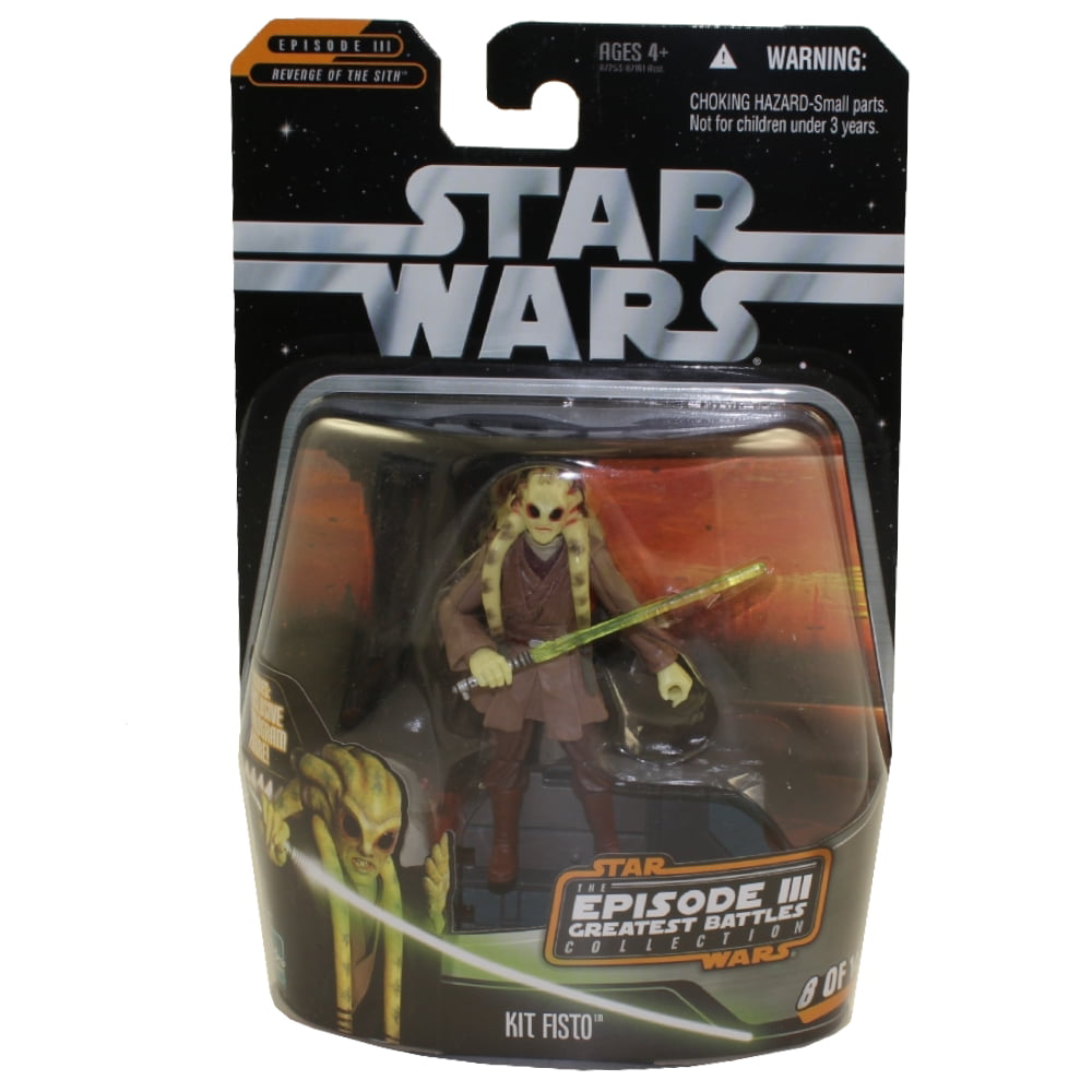 Star Wars Revenge Of The Sith Greatest Battles Action Figure Kit Fisto 3 75 Inch 8 Of 14 Walmart Com Walmart Com