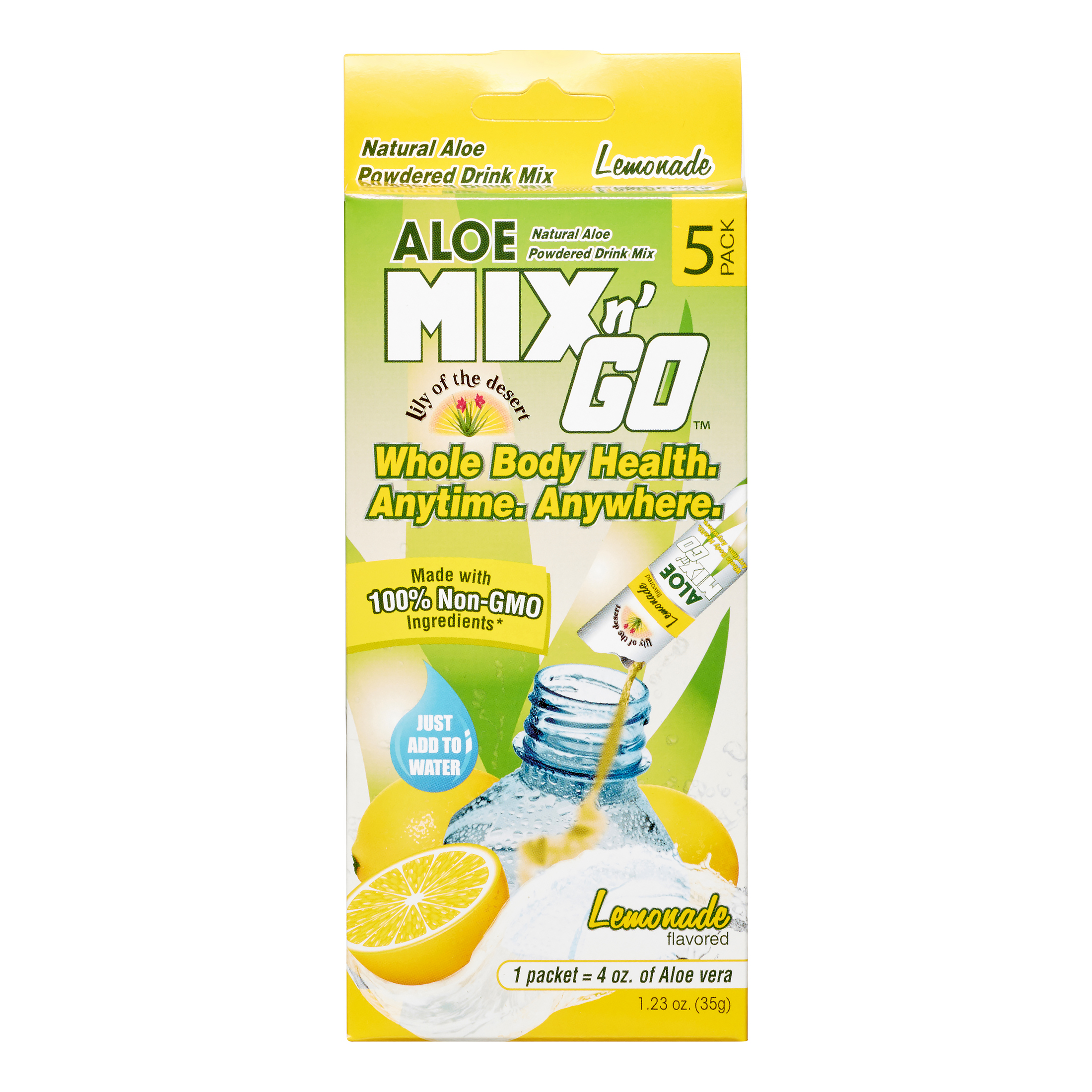 Aloe Mix N Go Lemonade, 5 Ct
