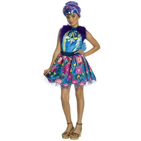 Enchantimals Patter Peacock Girls Halloween Costume - Halloween Peacock