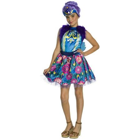 Enchantimals Patter Peacock Girls Halloween Costume - Diy Peacock Halloween Costume