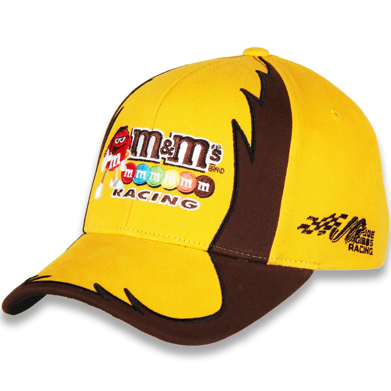 Kyle Busch Joe Gibbs Racing Team Collection M&M's Jagged Adjustable Hat - Yellow - OSFA