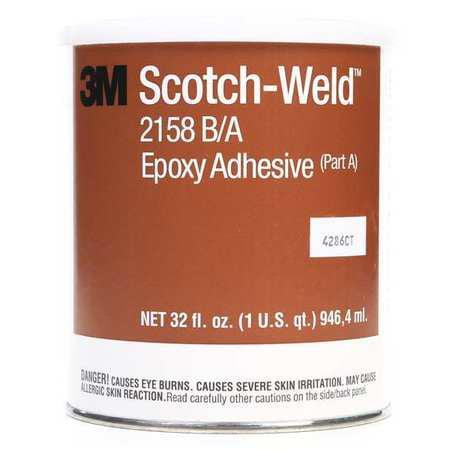 Epoxy Adhesive, Can, 32 oz., Gray, 10 hr.,PK6 3M 2158 B A by 3M