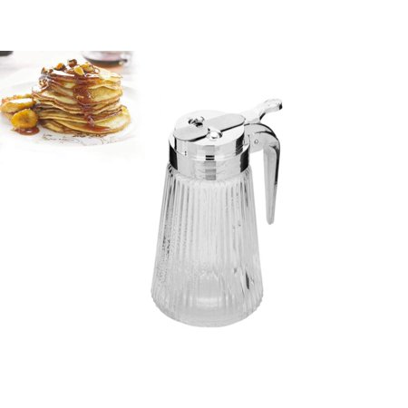 Oil Syrup - Multipurpose Oil Pancake Syrup Dispenser- Glass and Stainless Steel Dispenser with Spout-9 oz.Capacity