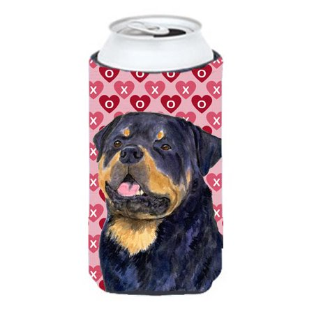 Rottweiler Hearts Love And Valentines Day Portrait Tall Boy bottle sleeve Hugger - image 1 of 1