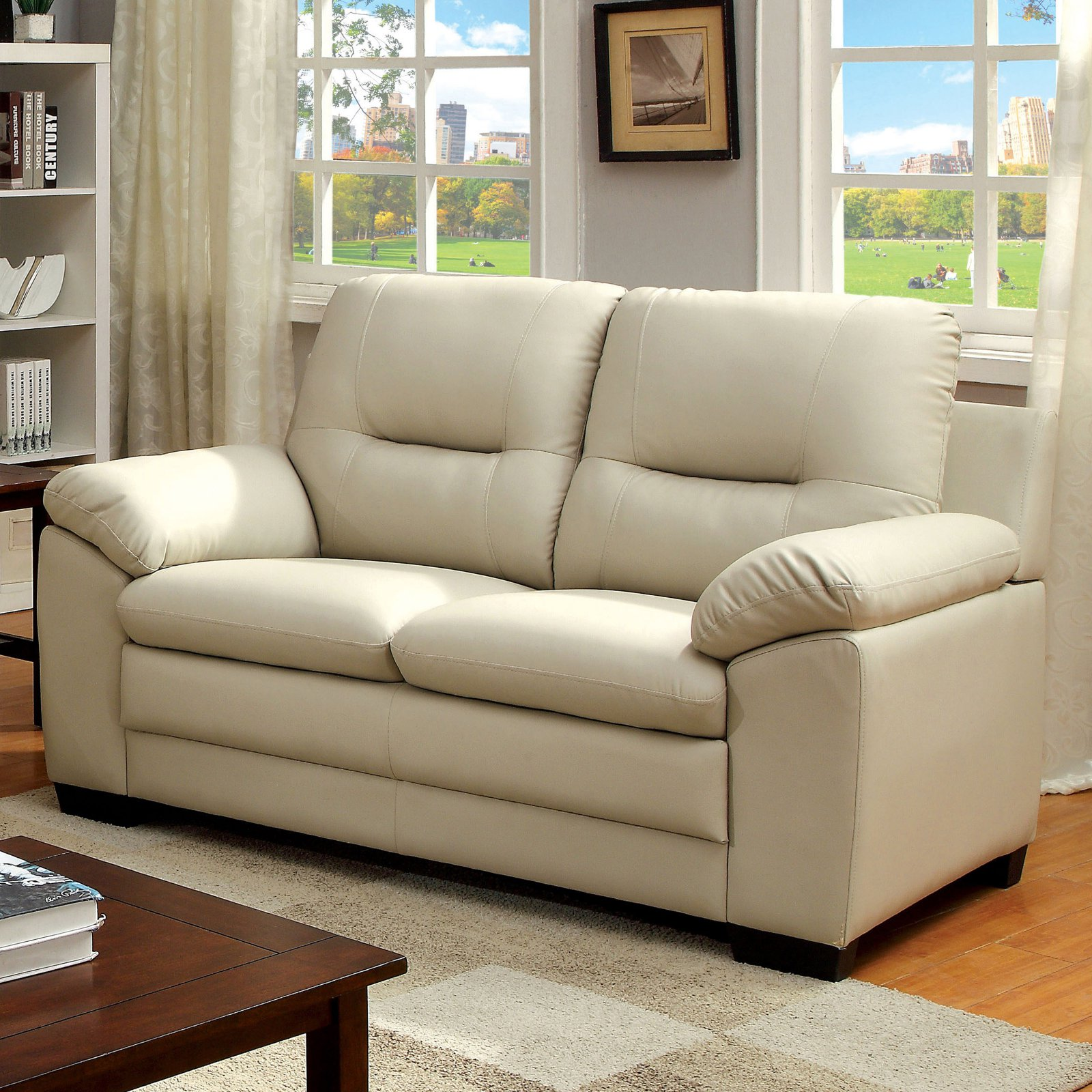 Furniture of America Milo Deep Tufted Loveseat