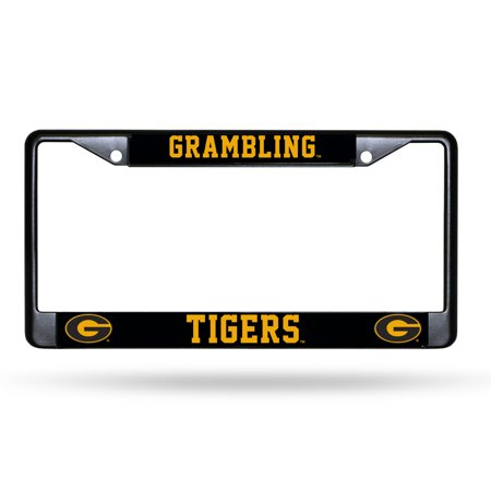 Grambling State Tigers NCAA Black Metal License Plate Frame