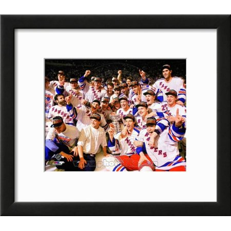 The New York Rangers 1994 Stanley Cup Champions Te... Framed Photographic Print Wall Art ()