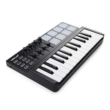 vangoa worlde portable 25 keys usb keyboard midi controller with drum pad. Black Bedroom Furniture Sets. Home Design Ideas